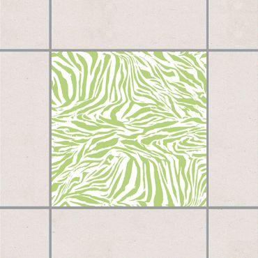 Adesivo per piastrelle - Zebra Design Spring Green 10cm x 10cm