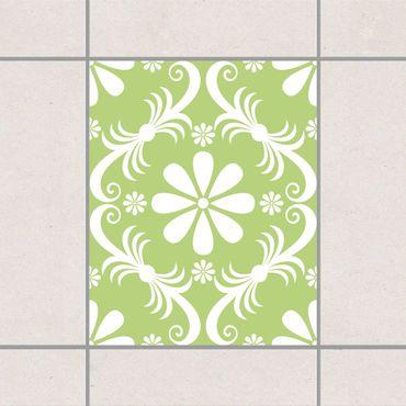 Adesivo per piastrelle - Floral Spring Green 25cm x 20cm