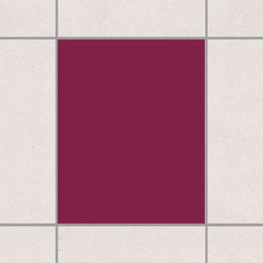 Adesivo per piastrelle - Colour Red Wine 25cm x 20cm