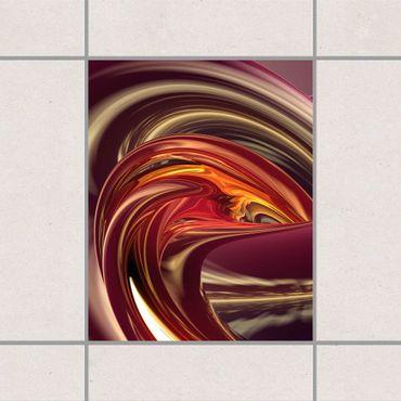 Adesivo per piastrelle - Fantastic Burning 25cm x 20cm