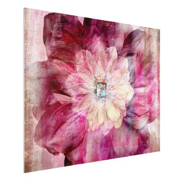Quadro in forex - Grunge Flower - Orizzontale 4:3