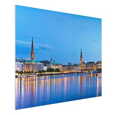 Quadro in forex - Hamburg skyline - Orizzontale 4:3