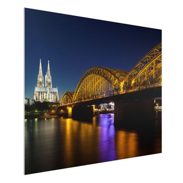 Quadro in forex - Cologne At Night - Orizzontale 4:3