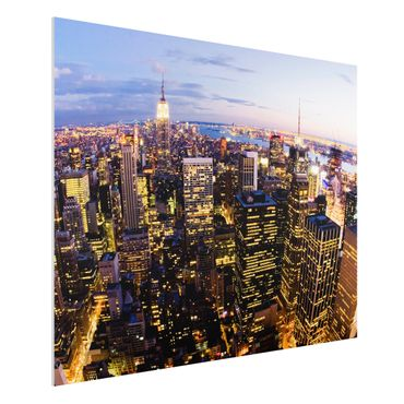 Quadro in forex - New York Skyline At Night - Orizzontale 4:3
