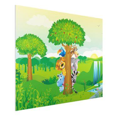 Quadro in forex - No.BF1 Jungle animals - Orizzontale 4:3