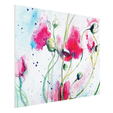 Quadro in forex - Painted Poppies - Orizzontale 4:3