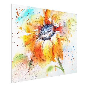 Quadro in forex - Painted Sunflower - Orizzontale 4:3