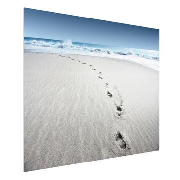 Quadro in forex - Footprints in the Sand - Orizzontale 4:3