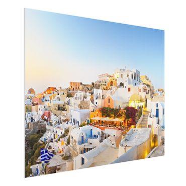 Quadro in forex - Shining Santorini - Orizzontale 4:3