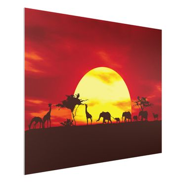 Quadro in forex - Sunset Caravan - Orizzontale 4:3