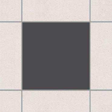 Adesivo per piastrelle - Colour Dark Grey 15cm x 15cm