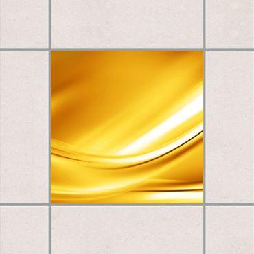 Adesivo per piastrelle - Golden Glow 25cm x 20cm