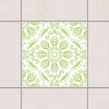 Fliesenaufkleber - Rosamunde White Spring Green Grün