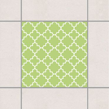 Adesivo per piastrelle - Traditional Quatrefoil Spring Green 25cm x 20cm