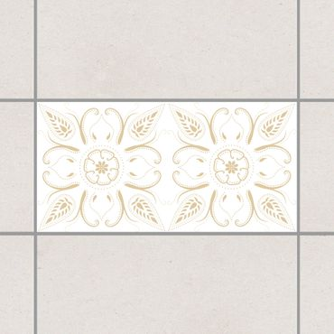 Adesivo per piastrelle - Bandana White Light Brown 30cm x 60cm