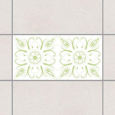 Adesivo per piastrelle - Bandana White Spring Green 15cm x 15cm