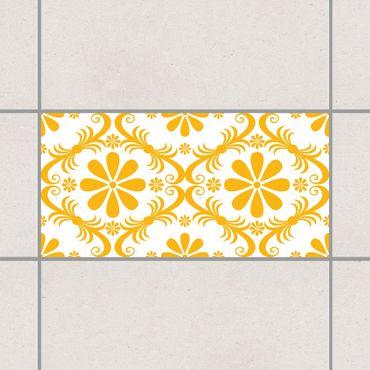 Adesivo per piastrelle - Floral Melon Yellow 30cm x 60cm