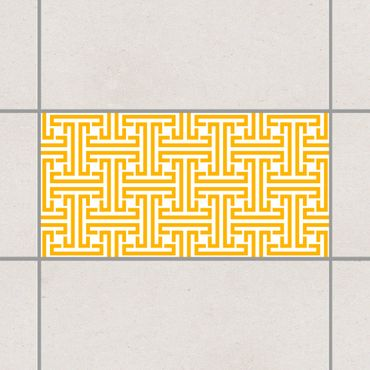 Adesivo per piastrelle - Decorative Labyrinth Melon Yellow 25cm x 20cm