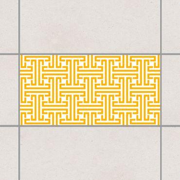 Adesivo per piastrelle - Decorative Labyrinth Melon Yellow 25cm x 20cm
