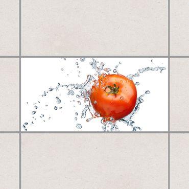 Adesivo per piastrelle - Fresh tomato 30cm x 60cm