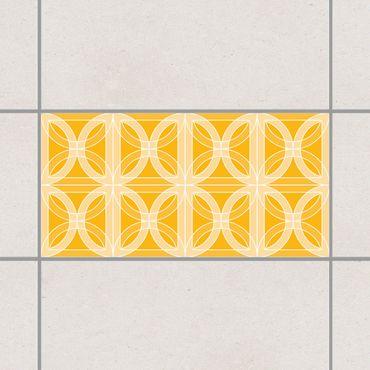 Adesivo per piastrelle - Circular Tile Design Melon Yellow 30cm x 60cm