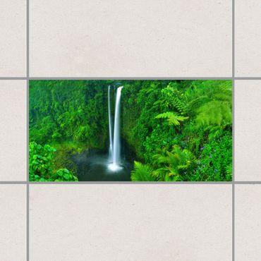 Adesivo per piastrelle - Paradisiacal Waterfall 30cm x 60cm