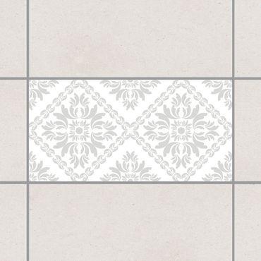 Adesivo per piastrelle - Vera Rosa White Light Grey 30cm x 60cm