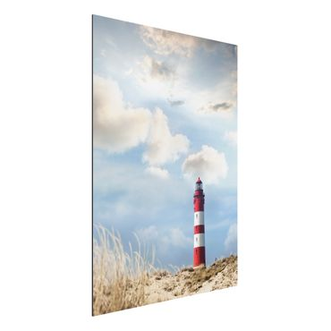 Quadro in alluminio - Lighthouse in the dunes