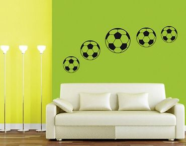 Adesivo murale no.BR197 Footballs