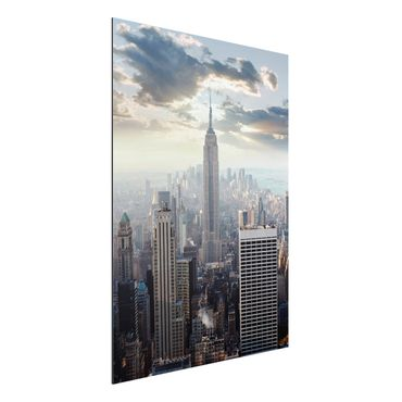Quadro in alluminio - Sunrise In New York
