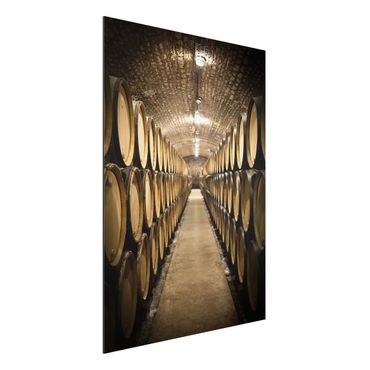 Quadro in alluminio - Wine cellar