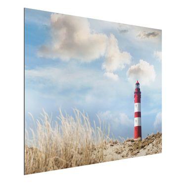 Quadro in alluminio - Lighthouse in the dunes