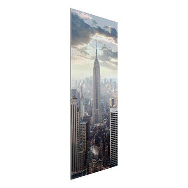 Quadro in alluminio - Sunrise In New York