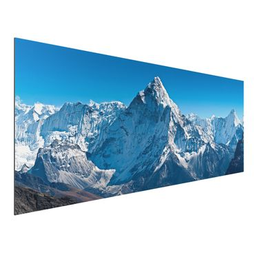 Quadro in alluminio - The Himalayas