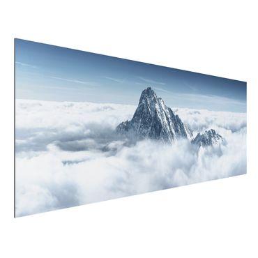 Quadro in alluminio - The Alps Above the Clouds