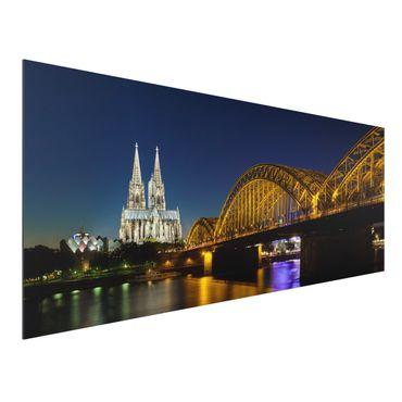 Quadro in alluminio - Cologne At Night