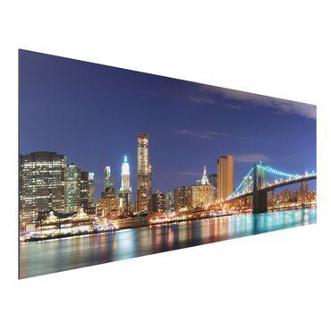 Quadro in alluminio - Manhattan in New York City