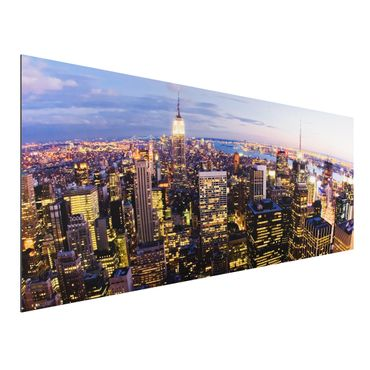 Quadro in alluminio - New York Skyline at Night