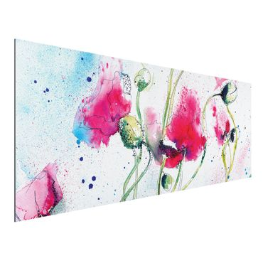 Quadro in alluminio - Painted Poppies