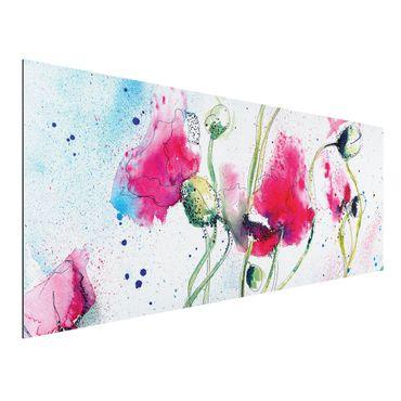 Quadro in alluminio - Painted Poppies