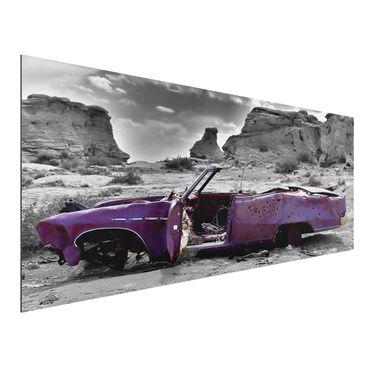 Quadro in alluminio - Pink Cadillac