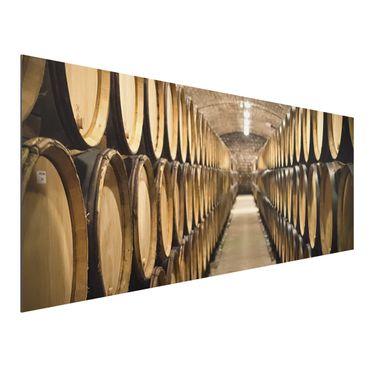 Quadro in alluminio - Wine cellar