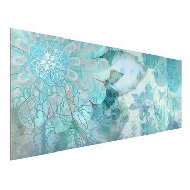 Quadro in alluminio - Winter Flowers