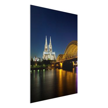 Quadro in forex - Cologne At Night - Verticale 3:4