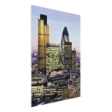 Quadro in forex - London City - Verticale 3:4
