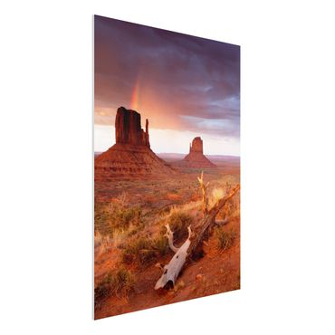 Quadro in forex - Monument Valley at sunset - Verticale 3:4
