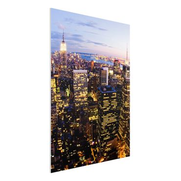 Quadro in forex - New York Skyline At Night - Verticale 3:4