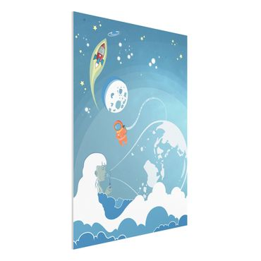 Quadro in forex - No.MW16 Colorful Space bustle - Verticale 3:4