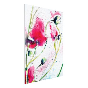 Quadro in forex - Painted Poppies - Verticale 3:4