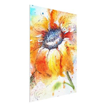 Quadro in forex - Painted Sunflower - Verticale 3:4
